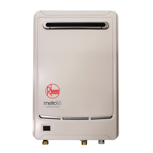 Rheem Metro 16L Gas Continuous Flow Water Heater : 60°C